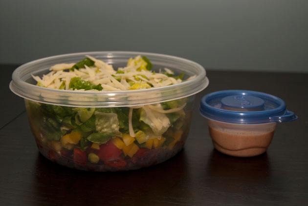 Pack it the right way and your salad will be perfect at lunchtime.